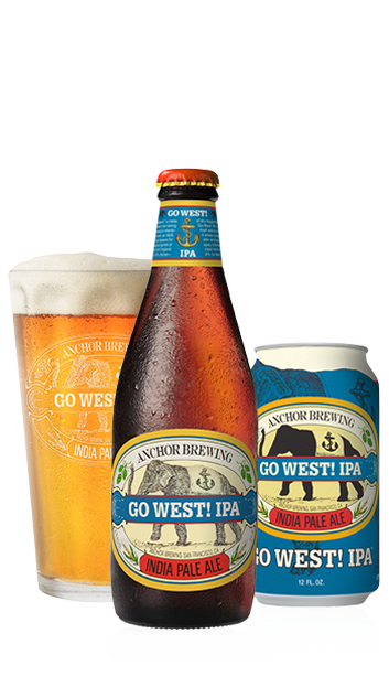 Go West! IPA Bottle, Glass, and Can