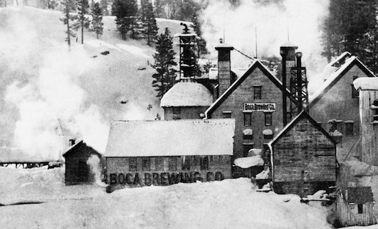 Boca Brewing Company first brewed a lager in the winter of 1875-76. Photo courtesy Verdi History Center, Verdi Nevada.