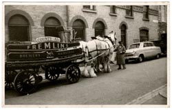 A Fremlins Beer wagon in Maidstone c.1960. Fremlins was one of three breweries in Maidstone that Mark visited in the 1960s. Ten years later, all were closed.