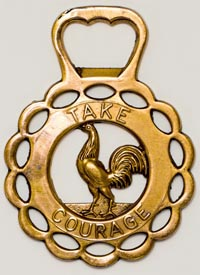 """""""Take Courage"""" bottle opener from Courage Brewery in Maidstone, England."""