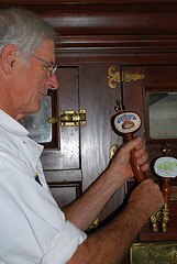 Mark Carpenter pours a Mark's Mild in the Anchor Taproom.