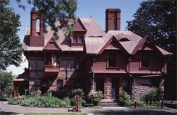 The Mark Twain House, where the Clemenses lived from 1874 to 1891.