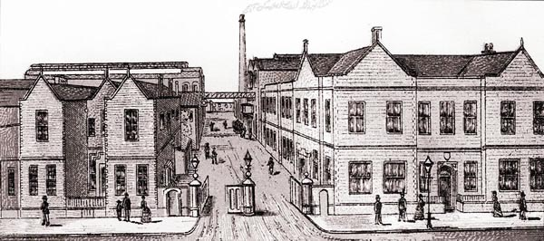 The Bass & Co. brewery and townhouse, circa 1882. Photo courtesy burton-on-trent.org.uk.