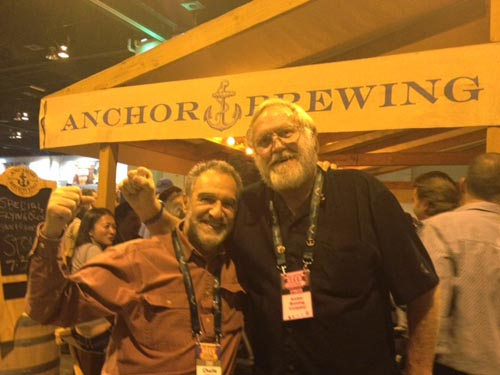 Bob Brewer with Brewers Association President Charlie Papazian.