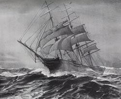 The Glory of Seas in a gale.