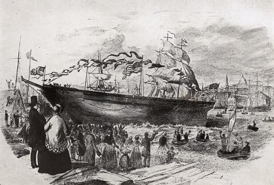 The Launch of the Flying Cloud, April 15, 1851