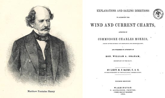 Mattew Fontaine Maury, author of Explanations and Sailing Directions