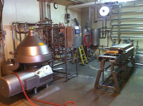 The filtration room at the Anchor Brewery.