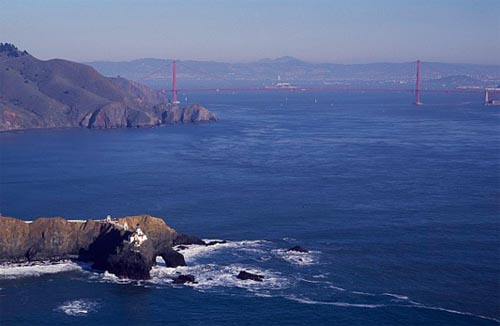 Point Bonita Light Station, just north of the Golden Gate, had the first fog signal on the West Coast.
