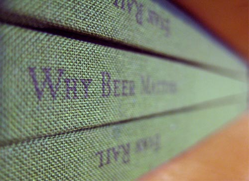 Book spines of Evan Rail's Why Beer Matters