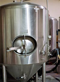 An enclosed steel fermenting tank - Photo by Sean Mason via Flickr Creative Commons