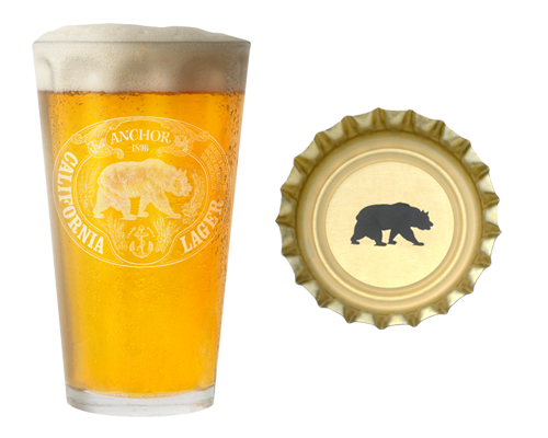 Anchor-California-Lager-pint-glass-and-crown