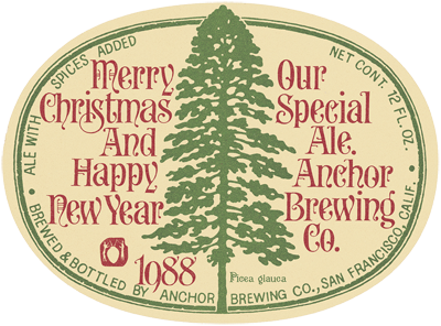 011 1988 anchor christmas ale label - Anchor Brewing Christmas Ale