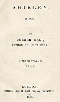 Shirley (Title Page) Charlotte Brontë AKA Currer Bell