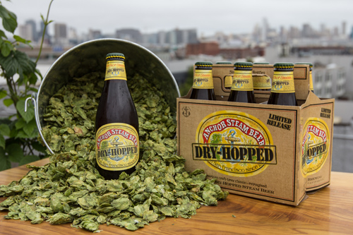 Dry-hopped Anchor Steam with cone hops