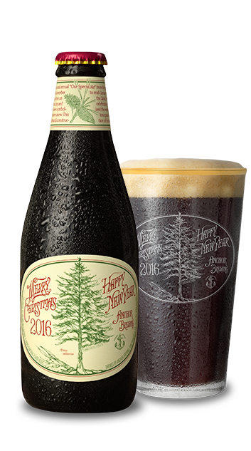 2016christmas beerandglass - Anchor Brewing Christmas Ale